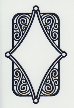 Joy! Embossing Stencil - Diamond Frame