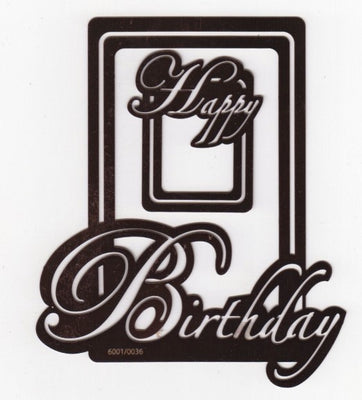 Text Stencil - Happy Birthday