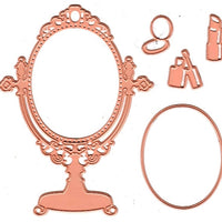 Joy! Crafts Cutting Die - vanity mirror with makeup (5pc)