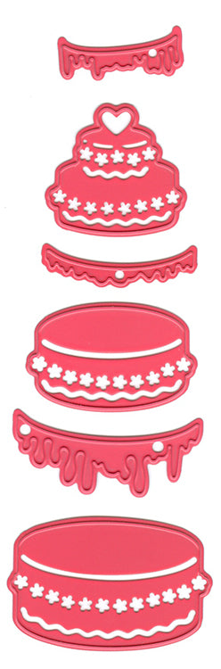 Joy! Crafts Cutting Die - (6pcs) Cake-parts