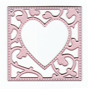 Joy! Crafts Cutting Die - square with heart