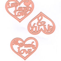 Joy! Crafts - Cutting Die- Hearts with text