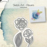 Joy! Crafts Cutting Die - Sketch Art - Flowers
