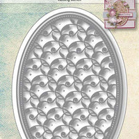 Joy! Crafts Cutting Die - Oval with Small Leaf Pattern