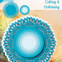 Joy! Crafts Cutting Die - Blue Lace Border Circle