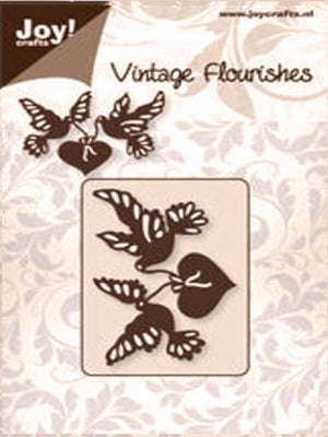 Joy! Crafts Cutting Die - Vintage Flourishes-Heart and Birds