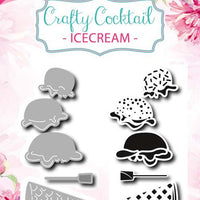 Joy! Craft Die & Stamps - Crafty Cocktail Icecream