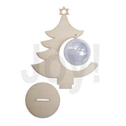Joy! Crafts Wooden Figures - Christmas Tree With Transparent Ball 8 Cm