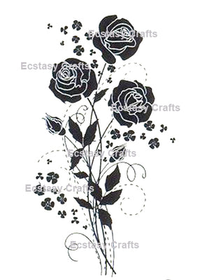 Silhouette Flowers -Roses