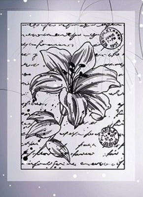 Joy! Crafts - Clear Stamps - Lily with Script -2