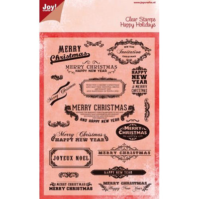 Joy! Crafts - Clear Stamp - Set - Happy Holidays