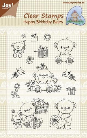 Joy! Crafts - Clear Stamp - Happy Birthday Bears