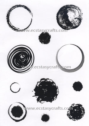 Joy! Crafts - Clearstamp - Round grunge