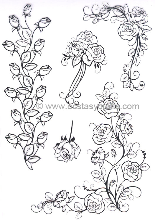 Joy! Crafts - Clear Stamp - Roses