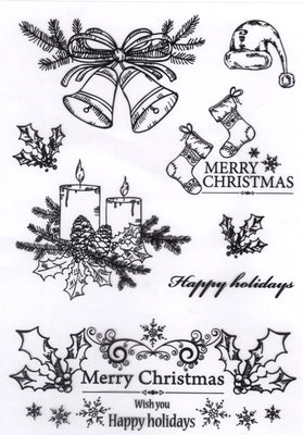 Joy! Crafts - Clear Stamp - Christmas Candles/Bells