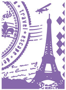 Couture Creations A2 Embossing Folders - Paris