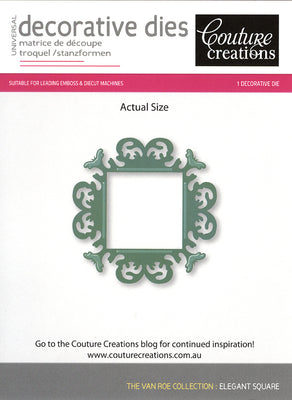 Couture Creations Die - Elegant Square