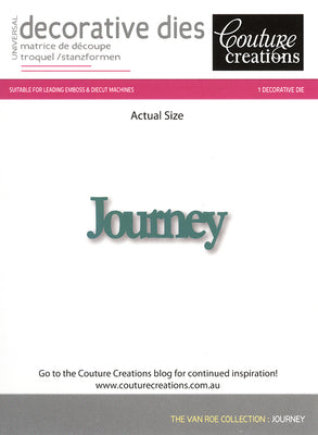 Couture Creations Die - Journey