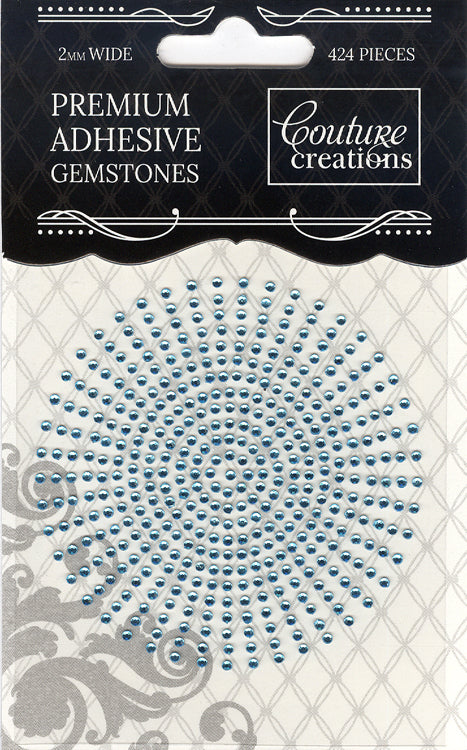 Couture Creations 2mm Gemstones - Powder Blue