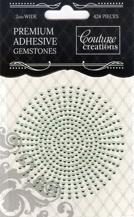Couture Creations 2mm Gemstones - Celadon