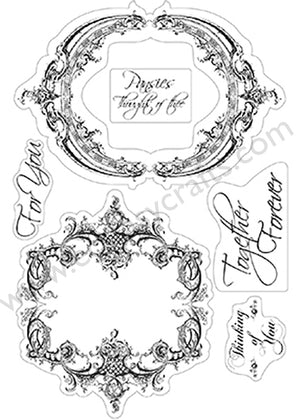 Couture Creations Stamp Set- Frames & Sentiments