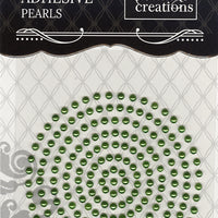 Couture Creations 3mm Pearls - Emerald Green