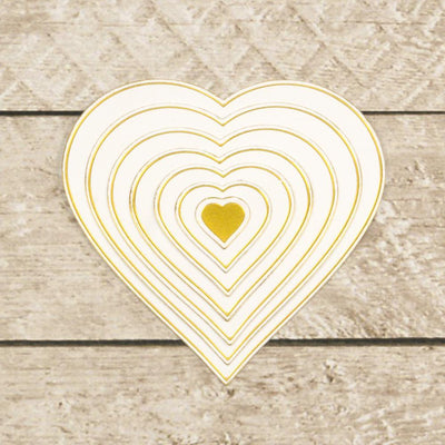 Cut, Foil and Emboss - Modern Essentials - Nesting Hearts