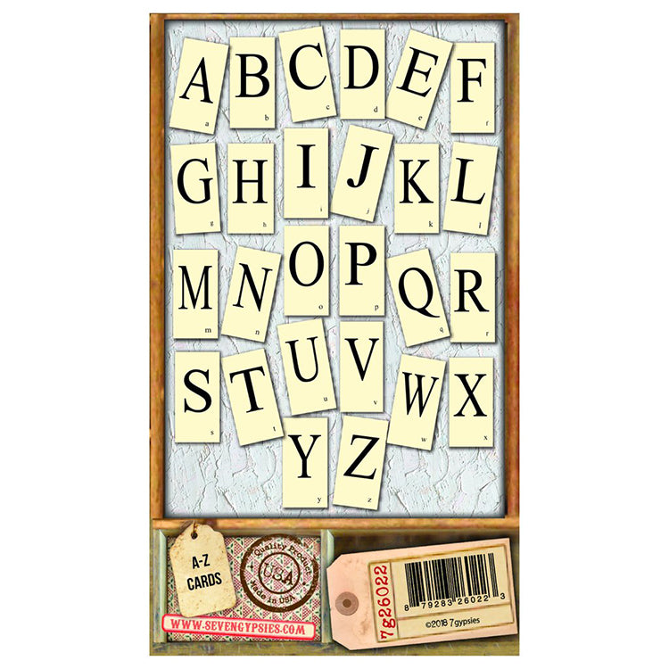 Architextures Flash Cards - Alphabet (26pc)