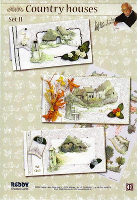 3-D Kit Country Houses Spring Set 2- 3 Cards