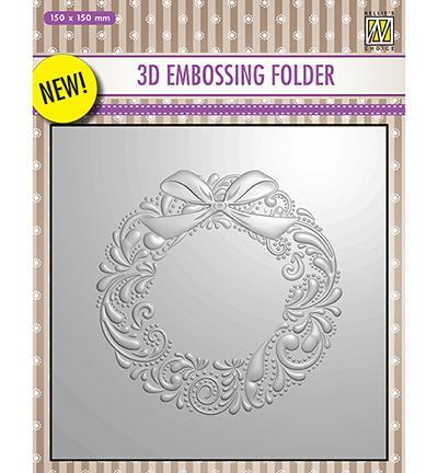 Nelle Choice 3D Embossing Folder - Wreath