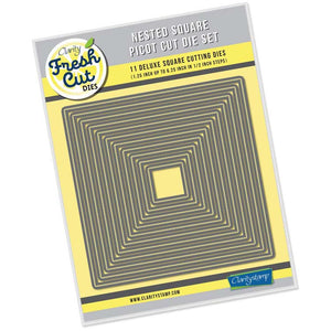 Nested Squares Picot Cut Die Set
