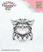 Nellie's Choice Clear Stamp Animals - Pussy Cat