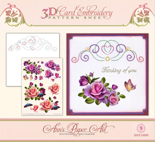 Ann Paper Embroidery Pattern - Rose Romantic