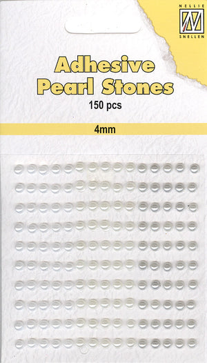 Nellie's Choice - Adhesive Pearl Stones 4mm