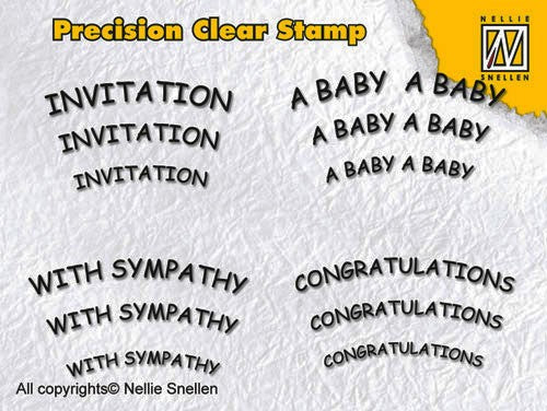 Precision clear stamps - English 2