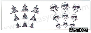 "Precision Clear stamps Christmas ""Christmas tree-star"""