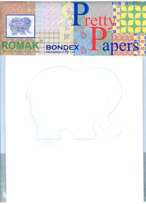 Pretty Papers Precut Cards for Paper Folding Elephant