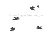 Frog's Whiskers Stamps - Group of Birds