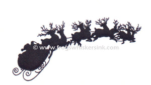 Frog's Whiskers Stamps - Santa and Reindeer Stamp