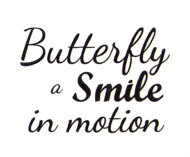 Frog's Whiskers Stamps - Butterfly Smile