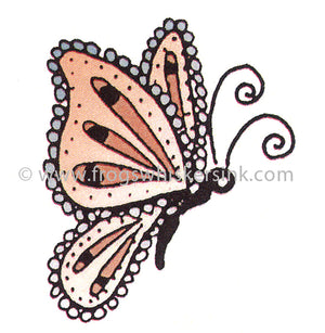 Frog's Whiskers Stamps - Butterfly Right Cling Mount Stamp