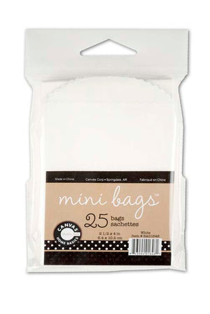 Canvas Corp Mini Bags White (25 Bags)