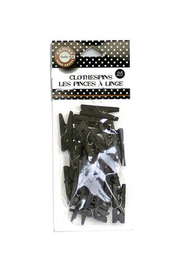 Canvas Corp Mini Clothespins Black