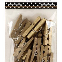 Canvas Corp Mini Clothespins Gold