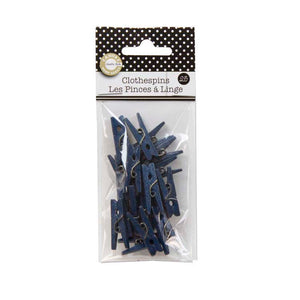 Canvas Corp Mini Clothespins Navy Blue