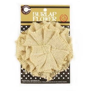 Canvas Corp Burlap Flower Sand