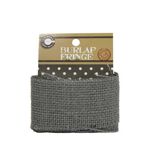 Canvas Corp Burlap Fringe Grey 1 Yard