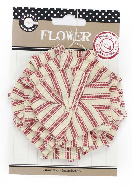 Canvas Corp Ticking Flower Red