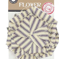 Canvas Corp Ticking Flower Blue