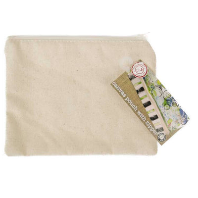 Canvas Corp Zipper Pouch Canvas 5.5 x 7.5